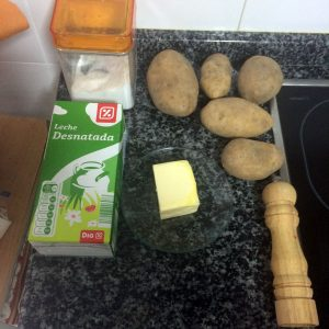 Ingredientes puré de patatas